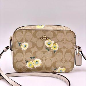 Coach Mini Camera Bag Crossbody with Daisy Print